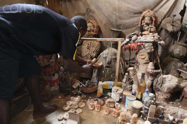 Voodo ceremony at Akodessewa fetish Market