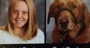 7. klassings tjenestehund fikk sin velfortjente plass i skolekatalogen.