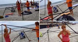 To kvinner stjal fra mann på stranden. Reaksjonen deres vil gi deg bakoversveis.