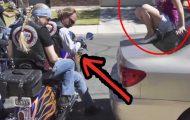 Biker-gjengen nærmet seg denne jenta, men det de GJORDE? Wow.