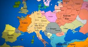 Europa har ikke alltid sett ut som nå. Se 1000 års grensehistorie forandre seg på 3 minutter.