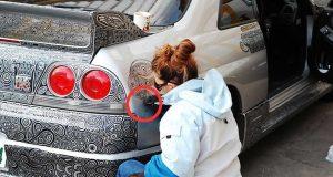 Hun tok en sprittusj og gjorde DETTE med mannens bil. Det siste bildet = Wow.