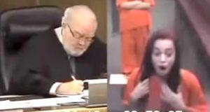 Hun slenger dritt til dommeren. Så responderer han på en måte som gjør at hun aldri vil gjøre DET igjen.