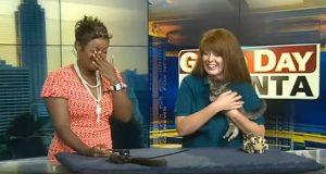 Det denne kattungen gjorde på live TV fikk meg til å le.