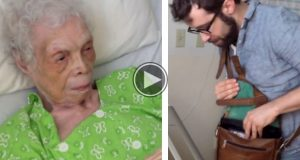 Det han gir denne 102 år gamle damen fikk meg til å tørke tårer.