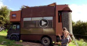 Denne utrolige husbilen gjorde meg målløs. Se hvordan den forvandles til et eventyrslott.