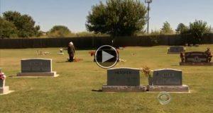 Hun besøker graven til sin nylig avdøde ektemann når det utenkelige skjer.