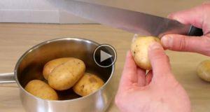 Han skjærer ETT hakk i potetene sine før koking, og det åpnet en helt ny verden for meg!