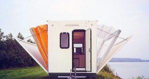 Det ser ut som en vanlig campingvogn… Helt til noen drar i en spak og DETTE skjer.