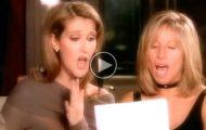 Celine blir med Barbra og synger DENNE duetten. Når de treffer den høye tonen, fikk alle hakeslepp.