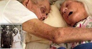 Etter 75 år som gifte, dør de i hverandres armer, med bare noen timers mellomrom.