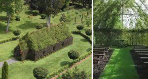 Denne fyren brukte 4 år på å gro en kirke fra trær.
