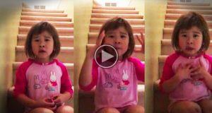 Hun hørte sine foreldre krangle. Det hun sier til dem vitner om en klokskap langt voksnere enn alderen skulle tilsi.