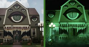 En kunstner gjorde DETTE med foreldrenes hus, akkurat i tide for Halloween. Helt perfekt.