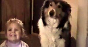 Når mamma sier «SMIIIL», fikk hundens reaksjon familien til å bryte ut i latter.