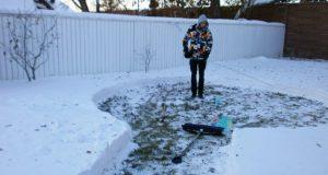 Det dette paret bygget av snø i hagen sin gjorde meg ufattelig misunnelig… Seriøst, jeg er lamslått.