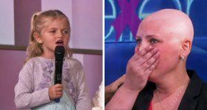 Når den 4 år gamle jenta synger for sin kreftsyke mor, er det umulig å holde tårene tilbake.