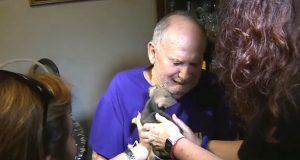 Han havnet på sykehus da chihuahuaen hans døde. Men se når en fremmed gir ham en ny valp…