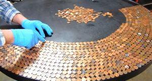 De heller 3500 pennies på bordet. 10 timer senere? Dette er fantastisk!