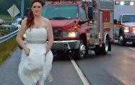 Øyeblikket etter hun sa «Ja», fikk bruden en telefon. Så gjorde hun det mest fantastiske noensinne.