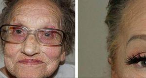 80-åringen ba barnebarnet om å sminke henne. Resultatet forbløffer nå en hel verden.