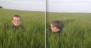 Gutten ble utsatt for et overraskende bakholdangrep i hveteåkeren. Vent til du ser gjerningsmannen.