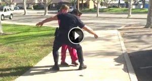 Politimannen ble tatt i å gjøre DETTE med et hjemløst barn, og nå sprer det seg viralt.
