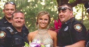 Tenåringen går med en glitrende kjole til ballet, men se hva politiet holder i hendene…