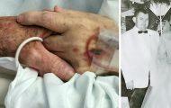Ektemannen ber kona om å huske bryllupsdagen deres. Så dør de mens de holder hverandres hender.