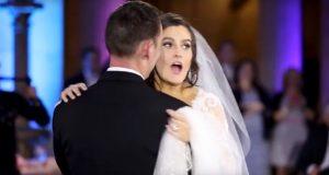 Bruden tror at bryllupsvalsen blir forstyrret – så innser hun hvem som står på scenen.