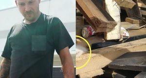 Når han hører en liten pipelyd fra containeren graver han i 7 TIMER… Så ser han det endelig.