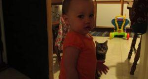 Pappa finner ut at datteren snakker med katten hans. Men det de snakker om? Haha.