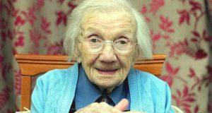 109 år gammel kvinne sier at å unngå menn er hemmeligheten til et langt og sunt liv.