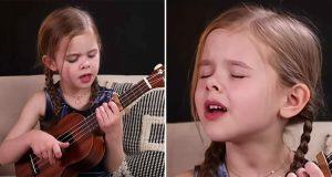 Hun ønsker å synge oss en Elvis-låt. Når hun begynner? Wow, for en stemme hun har.
