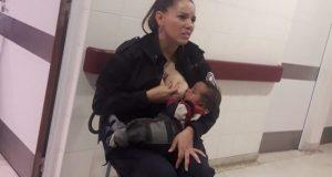 Politibetjenten finner forlatt og sulten baby – bestemmer seg for å amme gutten selv.