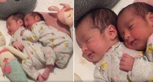 Viral video av nyfødte tvillingbabyer som koser, illustrerer perfekt hvor sterkt bånd de har.