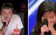 Simon sukker når hun sier hun skal synge Celine Dion – sekunder senere må han spise egne ord.