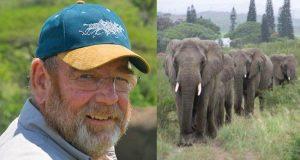 Mann redder elefanter fra krypskyttere. Etter hans død sørger de utenfor hjemmet hans.