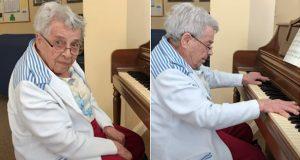 – «Jeg kan den ikke,» sier demente bestemor på 92 år – så spiller hun Måneskinnssonaten på piano.