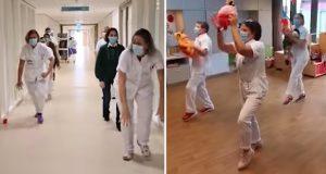 Sykehuspersonalet danser sammen – for å spre en følelse av håp til verden.
